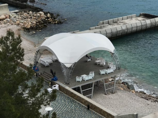 Арочный шатер 8х8 (Дюна)